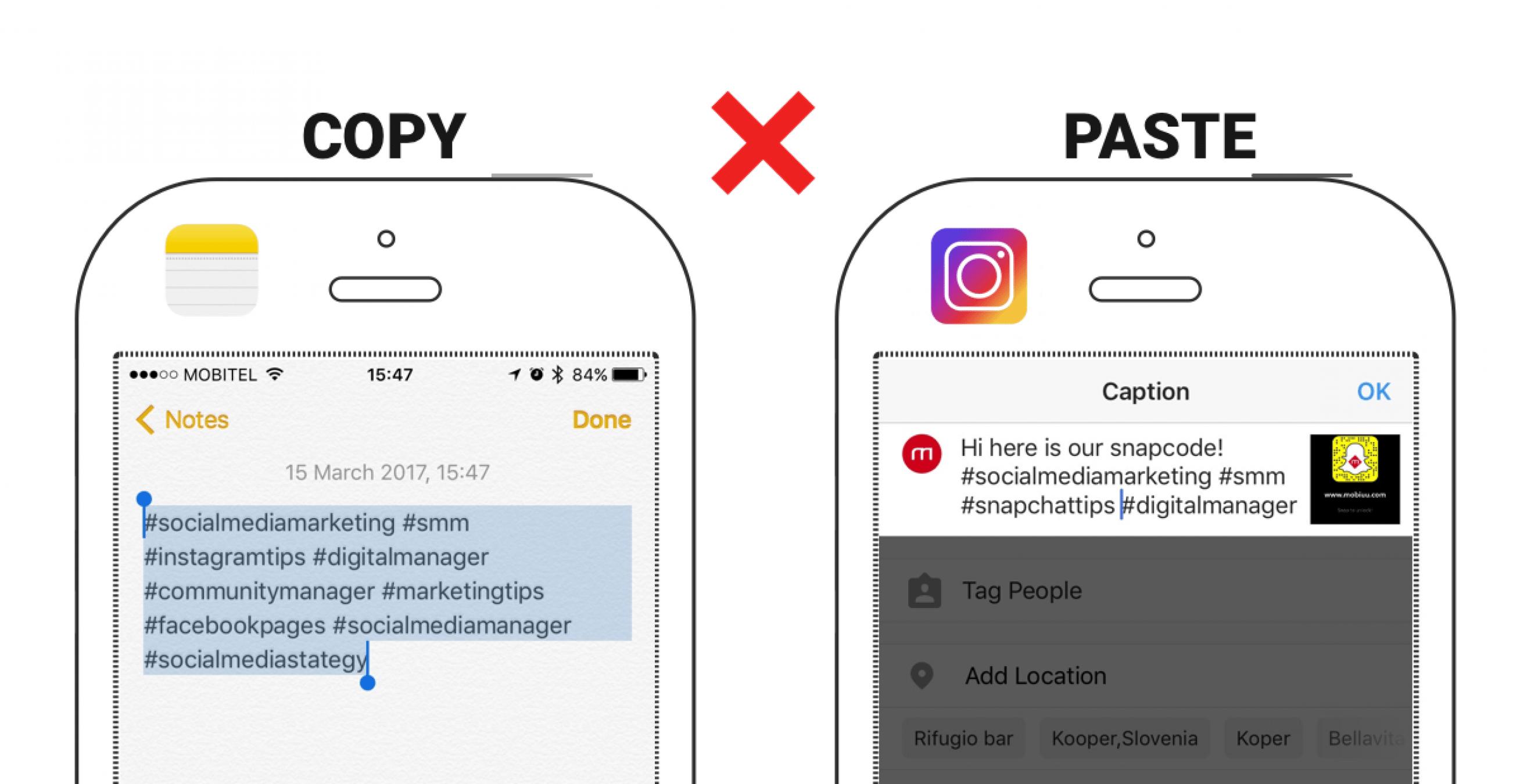 Preprosti trik za znaten prihranek časa pri urejanju Instagram #objav