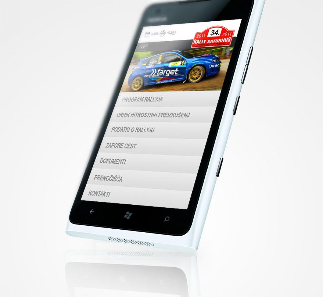 Rally Saturnus – Mobilna web aplikacija